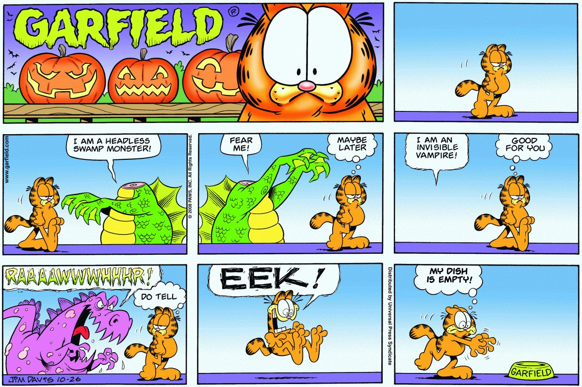 Random Garfield On Twitter Garfield 10 26 2008