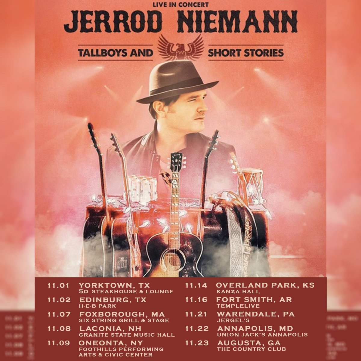 Come party with us! #jerrodniemann #country #countrymusic #livemusic #countrygirl #countryboy #concert