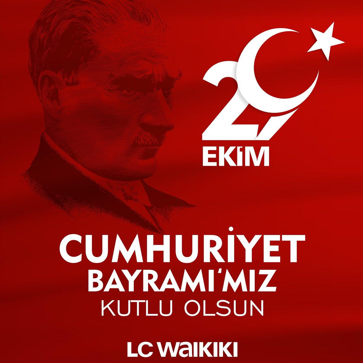 29 Ekim Cumhuriyet Bayramı'mız Kutlu Olsun 🇹🇷 #29ekim #cumhuriyetbayramı #lcwaikiki https://t.co/pl0XcjdPsK