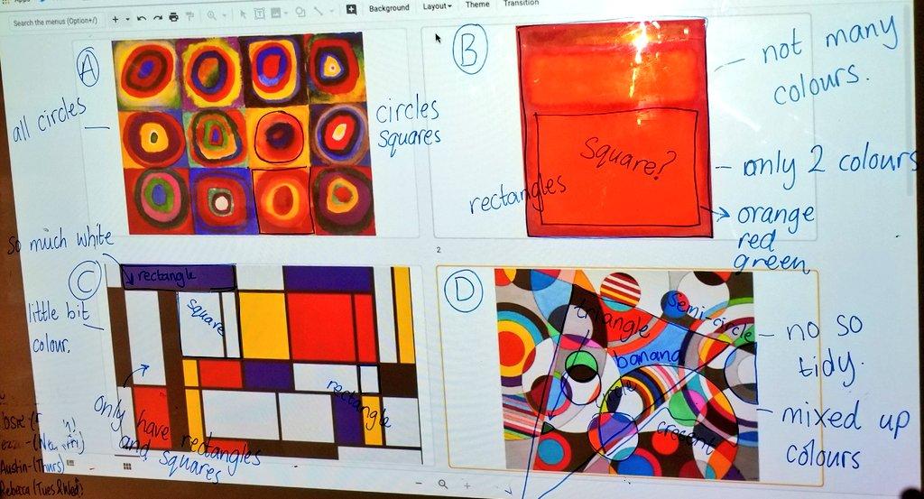 Exploring shapes in visual arts with @WODBMath. #RCHKpyp #wodb #inquirymaths #MTBoS