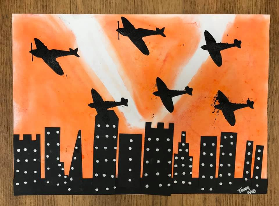 The residents at Whitebeach #CareHome in #StLeonards created some beautiful and moving work on the Fulham #Blitz with CM Artist Sarah.   Lots of reminisce including a gent who had met Winston Churchill following a heavy raid in Fulham!  #ArtsinCareHomes  #WW2Art  #RemembranceDay
