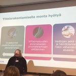 Image for the Tweet beginning: Päivi @PeltolaOjala kertoo, ettei yhteisrakentamisen