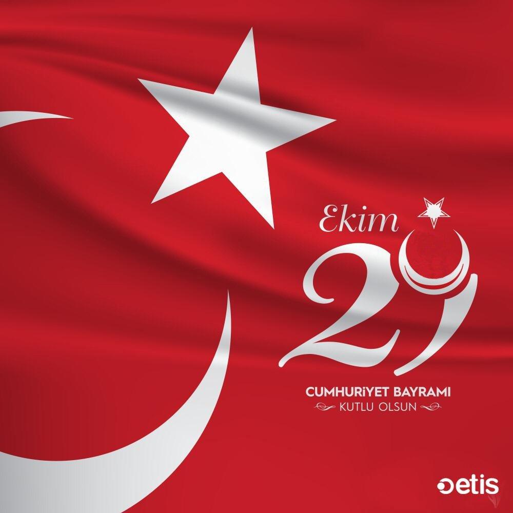 29 Ekim Cumhuriyet Bayramımız Kutlu Olsun. #EtisLojistik #29Ekim #CumhuriyetBayramı #KutluOlsun https://t.co/BeP7WQDU1A