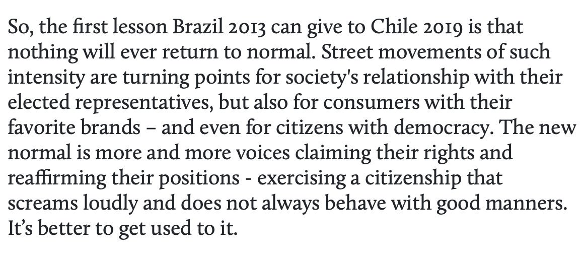 .@traumann: the view on Chile from Brazil 2013 Street movements of such intensity are turning points for societys relationship with their elected representatives americasquarterly.org/content/what-b…