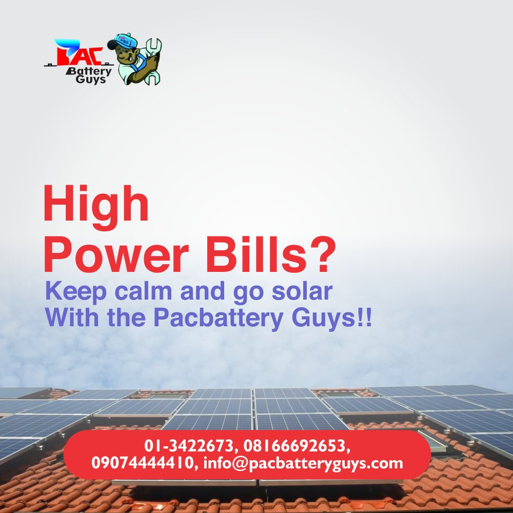 Go green, go solar. Contact us today and let's make solar power work for you.  T - 08166692653, 09074444410 . #solarexperts #fastsolarsolution #thinksolar #pacbatterypic.twitter.com/YevLOTdAhF