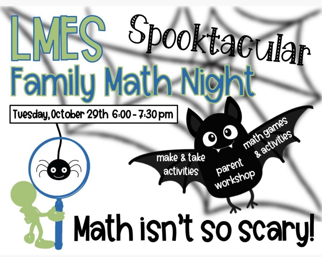 Family Math Night @LyonsMill is tonight!