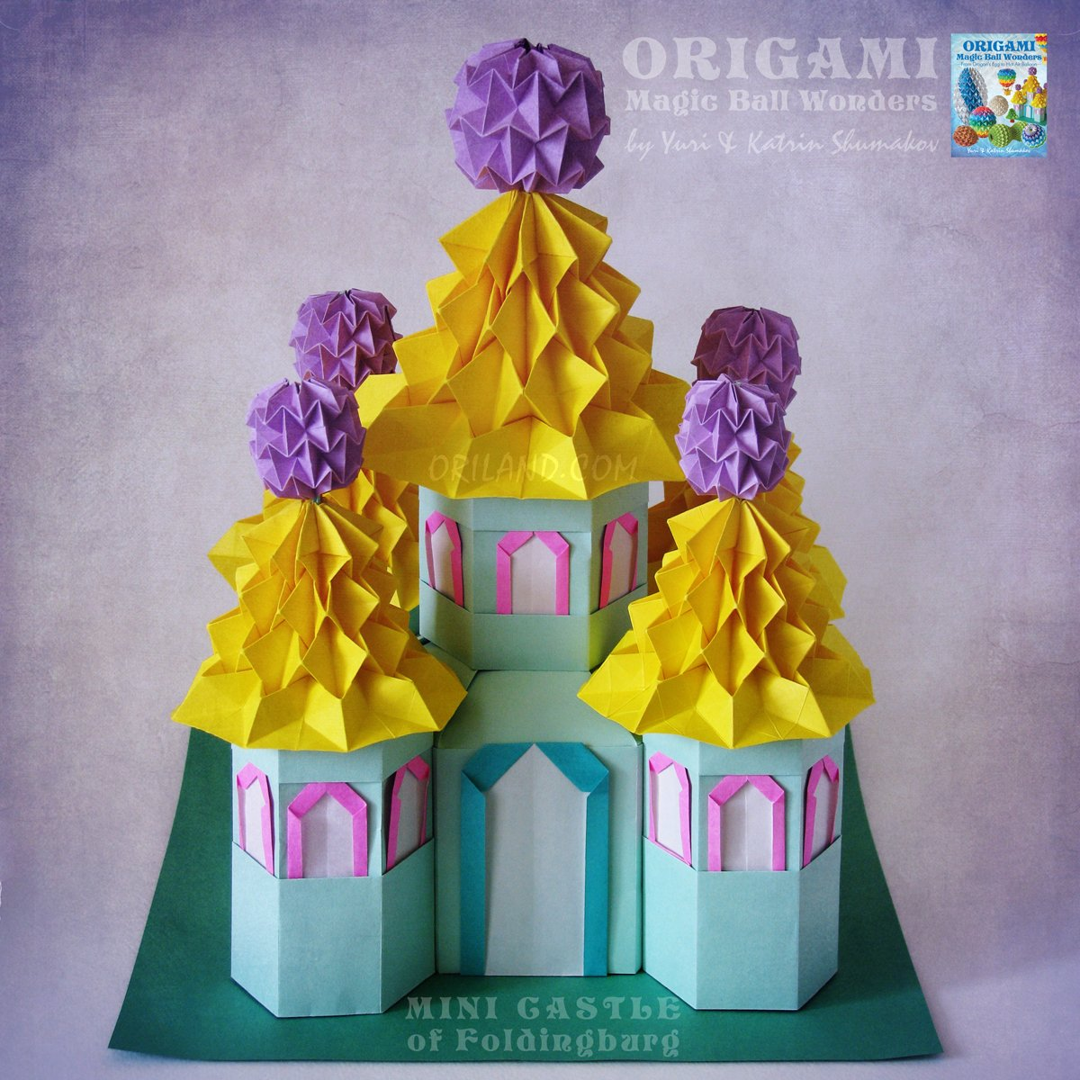 Easy Origami Christmas Castle Modular Cross - YouTube   1200x1200