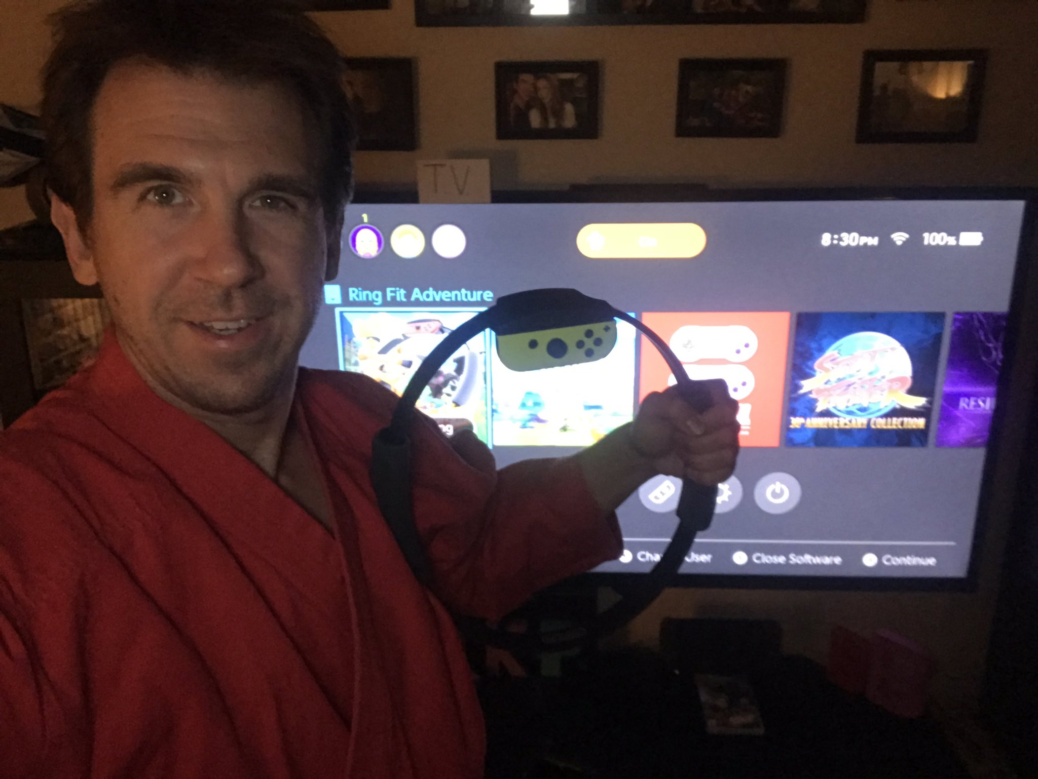Ring Fit Adventure live stream play session part 2 with Paul Gale Network.
