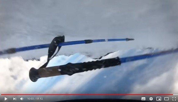 滑落 動画 富士山