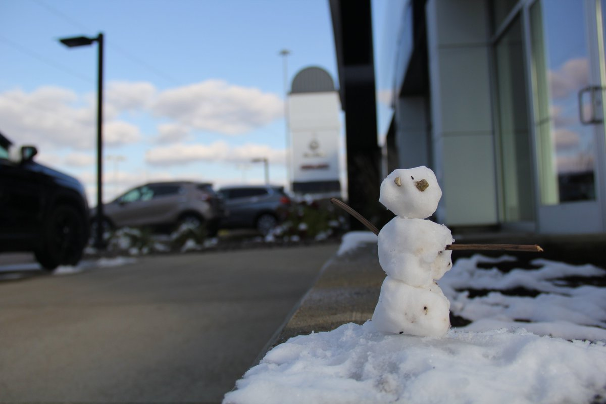 And the award for First Snowman of the Season goes to *drum roll*.... us!