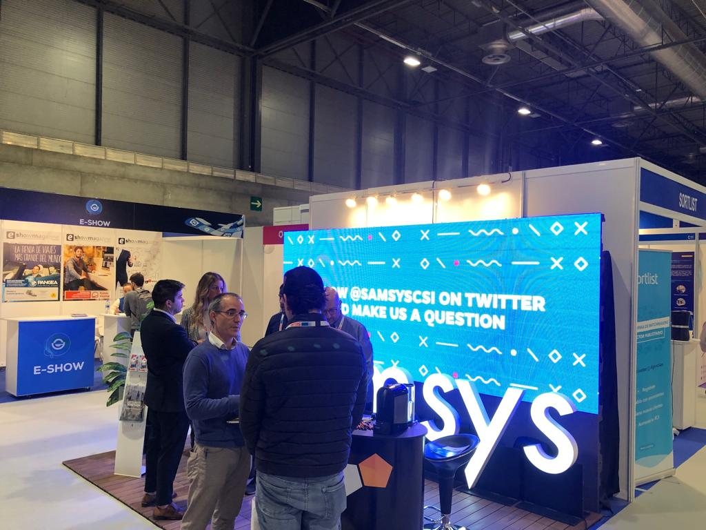 At #eShowMAD19 for the first time with our own booth changing ideas within our niche!! 🙂 What a tremendous opportunity to meet new people and new connections here at #Madrid   Remember that you're never fully complete without #samsys ! #marketing #design #dev #erp #ecommerce https://t.co/gKfRqhWbJg