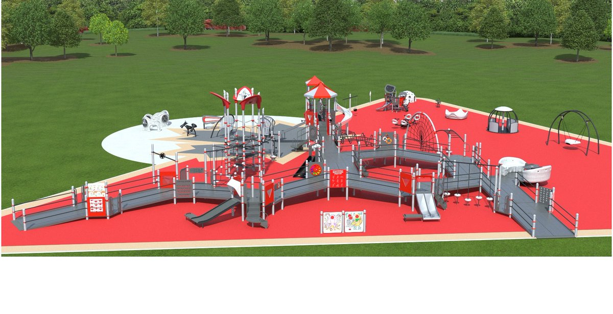 Nous sommes impatients de voir @CityofEdmonton énéficier dune #terraindejeuBondépart inclusive. Les terrains de jeux sont conçus pour les enfants ayant des limitations physiques, cognitives ou sensorielles afin que les enfants de toutes capacités puissent jouer ensemble!