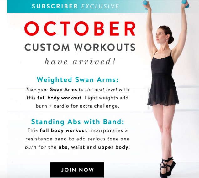 Our new October #Workouts have been so popular- have you done them?! Beauties are LOVING the Abs with Band #workout and the extra challenge of the Weighted Swan Arms Get all the details here: https://www.balletbeautiful.com/custom-workout #BalletBeautiful #BalletBeautifulFit #ballet #barre #ballerinapic.twitter.com/DTFWm83Dj9