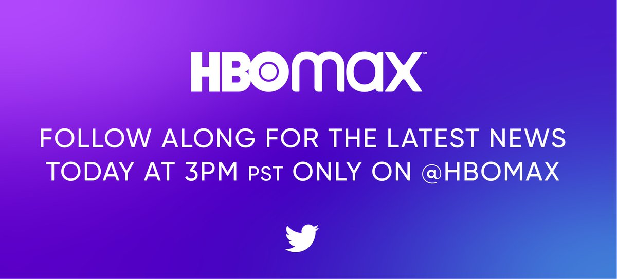 Be the first to know. Follow @HBOMax now for live updates as they unveil all things HBO Max https://t.co/mTGDGHbjje