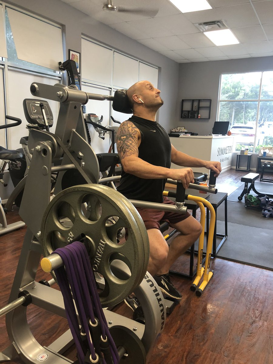 People often say neck machines are scary. You know what's really scary?  A weak, unprepared neck. If the neck is weak and brittle and sensitive, why will almost never find a neck machine in a commercial gym or private training center?   We've got one and use it will our clients! https://t.co/k94TJd9reA