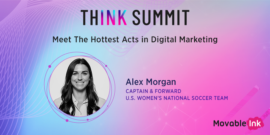 Alex Morgan is about to be in the building, are you ready?! #ThinkSummit @alexmorgan13 @USWNT
