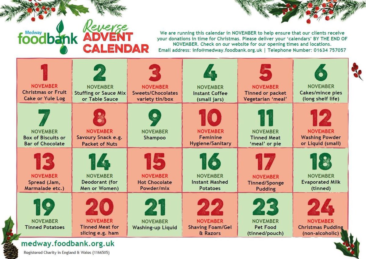 Medway Foodbank On Twitter Here We Go Reverse Advent