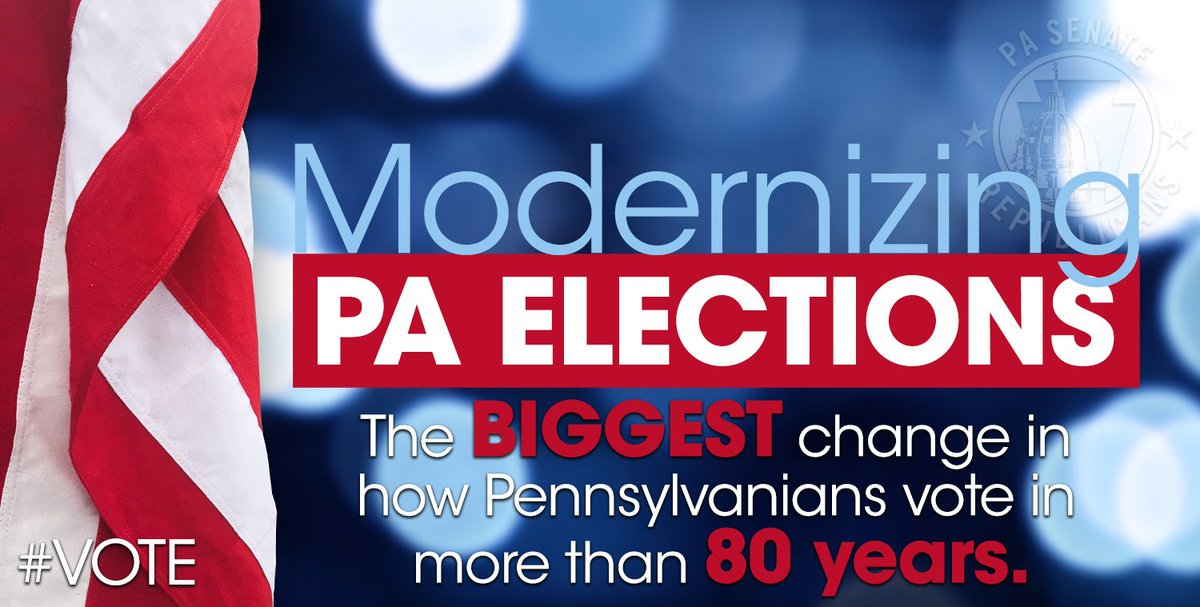 I was pleased to support the passage of SB 421 earlier today. #electionreform @PASenateGOP