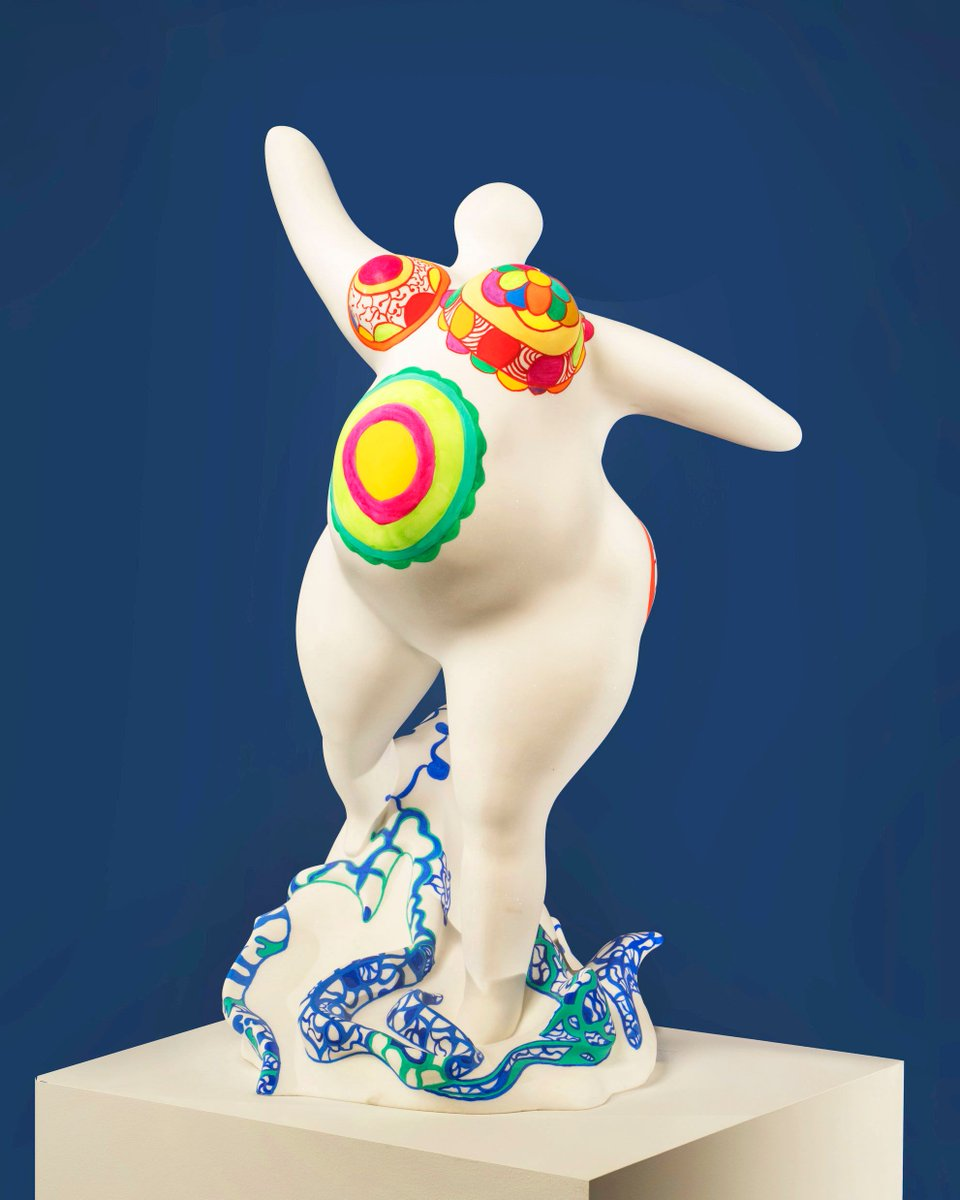 "Happy birthday to #NikiDeSaintPhalle!  Saint Phalle is most known for her monumental ""Nana"" sculptures, which represent the everywoman—women in varying poses, colors, and sizes. She is also known for addressing sociopolitical issues in her work and life.  http:// bit.ly/2Jwp2EB     <br>http://pic.twitter.com/ikM2aL1CwP"