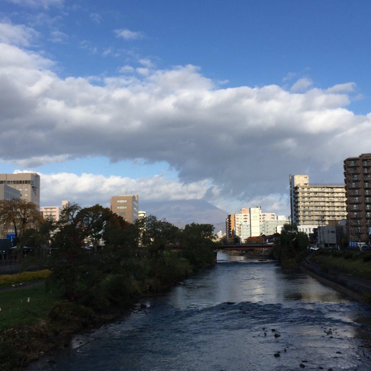 2019/10/30 盛岡市の開運橋から撮影。みなさま、安全第一でお過ごしください。 #岩手 #盛岡 #北上川 #岩手山 #岩手においでよ