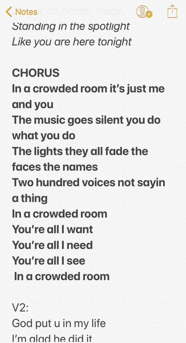 Song we wrote today. Preview over on my Instagram story. #thealbumiscoming