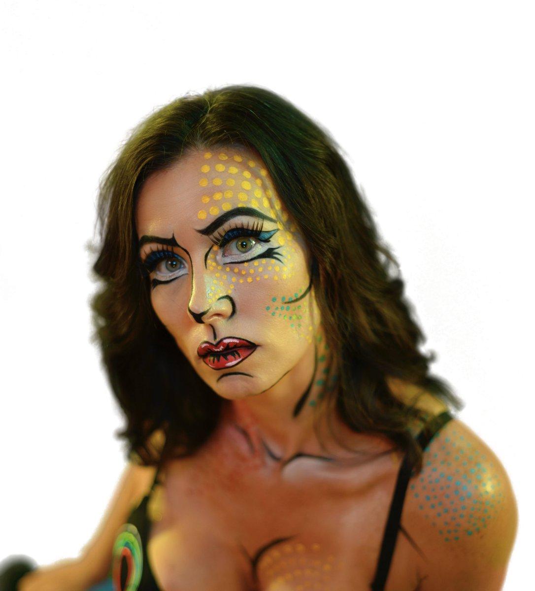 I had so much fun doing this Pop Art/Comic Book Makeup!!   Makeup: @Nurilynn  Model: @lady_theax  . . . #popartmakeup #hallowenmakeup #makeupartistcommunity #makeupcommunity #undiscoveredmuas #undiscoveredmakeupartist #makeupartistlosangeles #losangelesmakeuppic.twitter.com/Koassjd7zs