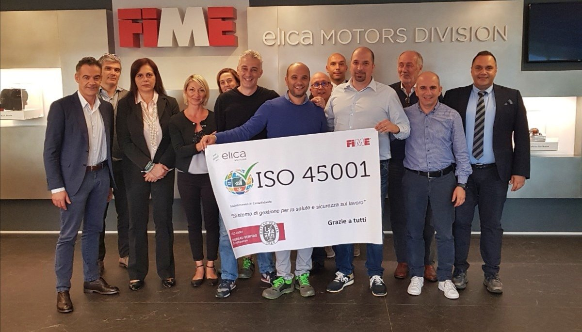 """FIME, Elica Motors Division, has obtained the first #ISO45001 """"HEALTH & SAFETY MANAGEMENT SYSTEM CERTIFICATION"""" by Bureau Veritas Certification. Congratulations to the team! #ElicaPeople #Elicarianuova https://t.co/Bfe2shAFvg"""