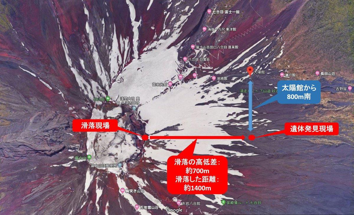 滑落 配信 富士山 動画