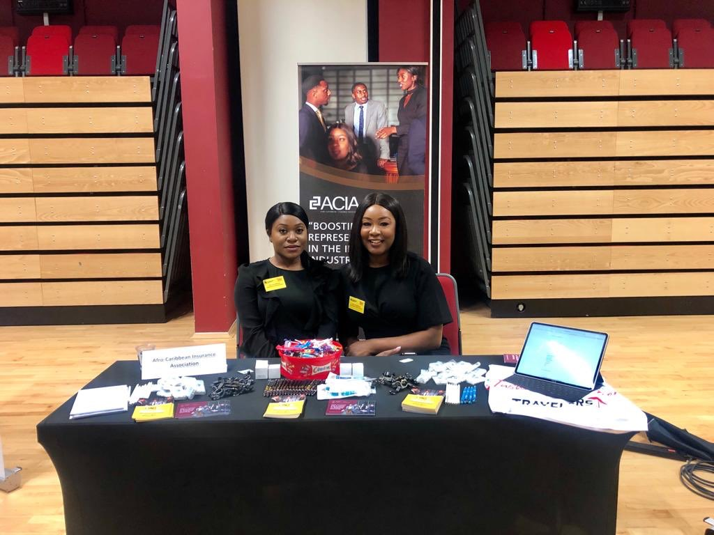 Interested in a career in Insurance ?   Catch the Afro-Caribbean Insurance Association (ACIA) today at the @dmuleicester Careers Fair  @DMUACS #University #CareersFair #insurance #LloydsofLondon #Students #Freshers2019 #Leicester