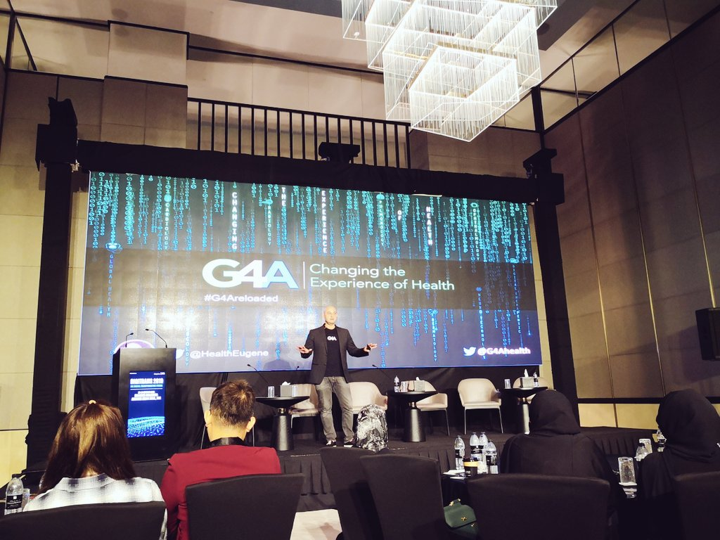 """Changing the experience of health - what are the five rules of success: """"Persistence, persistence, persistence, persistence, persistence.""""  @HealthEugene  #DigitalHealth @Bayer #G4Areloaded @G4Ahealth #DigiTransForum @khaleejtimes https://t.co/B5QC89GJIQ"""