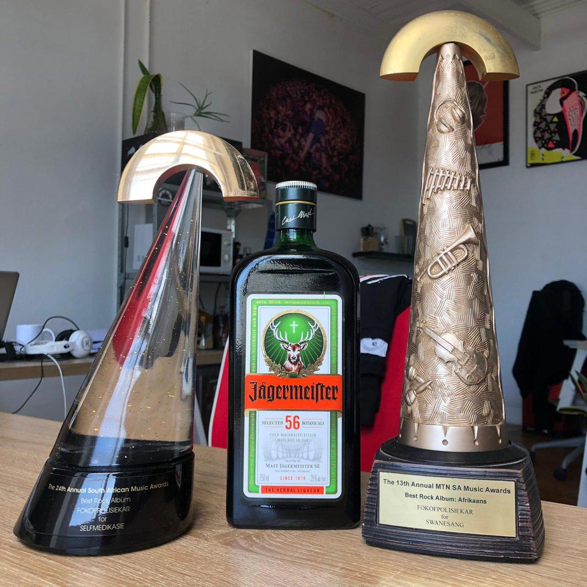 Vraag: Watter een van die drie awards dink julle verdien ons die meeste? Antwoord: Die @jagermeistersa ene! 😉