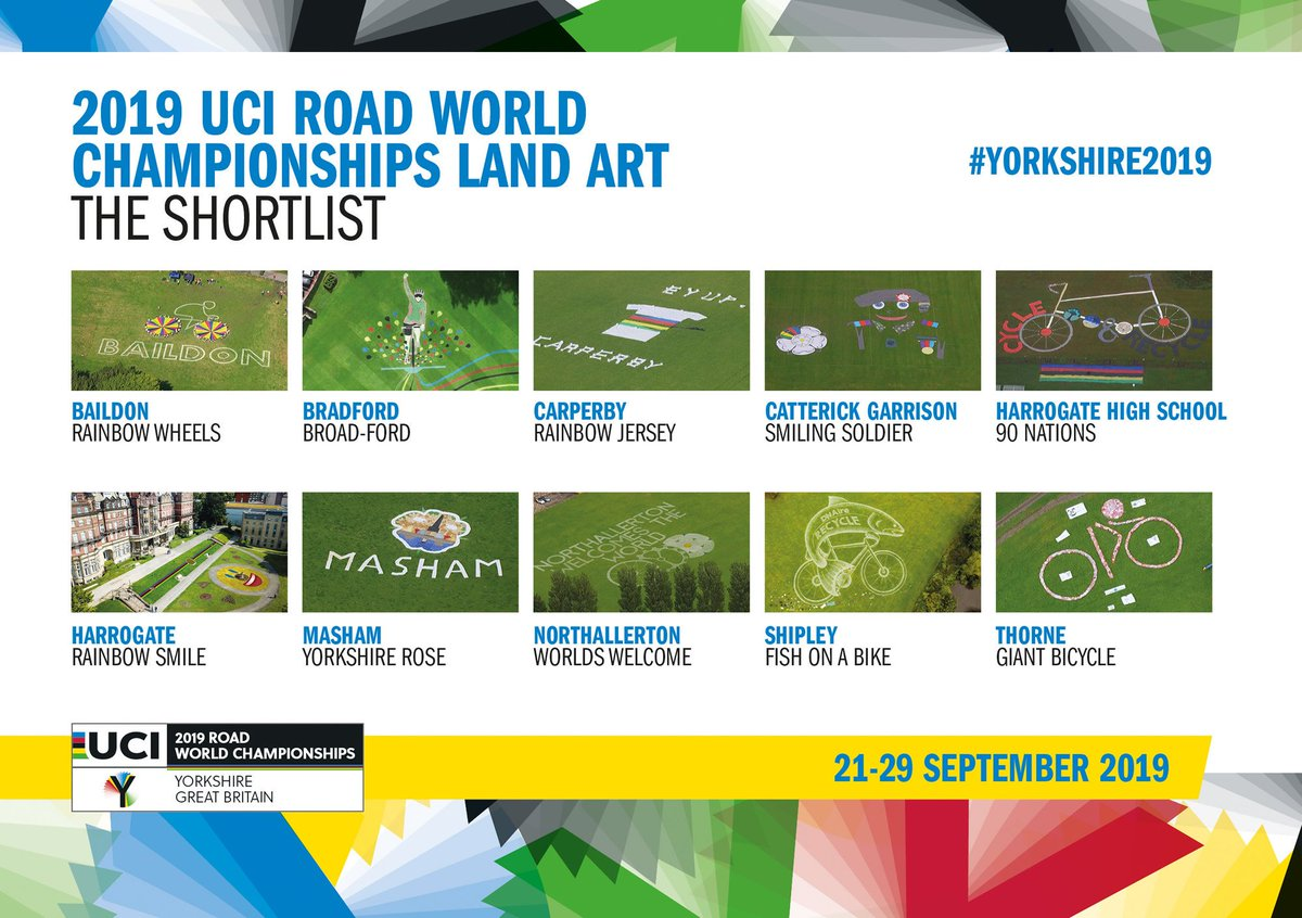 ICYMI, we revealed our Top 10 in the @Yorkshire2019 land art competition and you can vote for your favourite here ⤵️    #Yorkshire2019