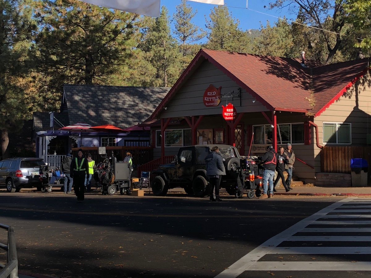Did anyone see the TV show filming in downtown Idyllwild today???