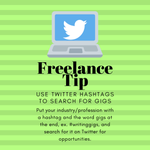 Image for the Tweet beginning: #Freelance tip: Use pointed hashtags