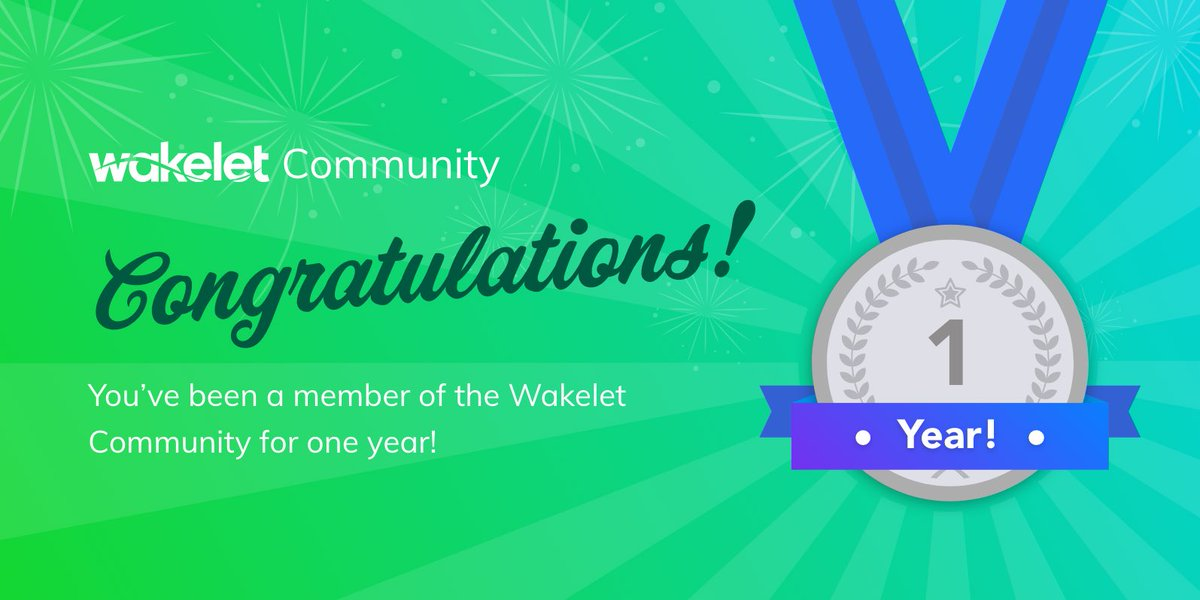 I've been riding the #WakeletWave in the @Wakelet Community for 1 year!!