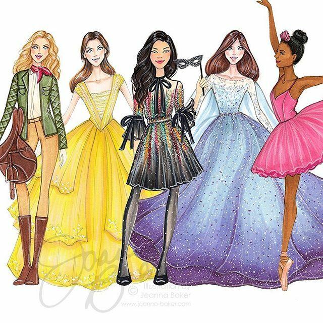 Halloween ready! 🎃 #fashionillustration #princess #ballerina #masquerade #equestrian #halloweencostume #costumeideas #belleoftheball #letitgo #gown #princessdress #equestrianstyle #tutu #pointeshoes #halloweenfun #artist #joannabaker