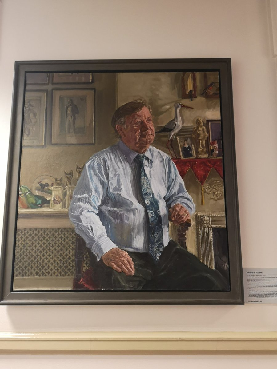 This portrait hangs outside my Commons office. A titan of British politics, and one of my political heroes. Ive had some real is this happening? moments as an MP - a lift across London in the back of Kens car as he smoked his cigar and regaled me with stories one of the best