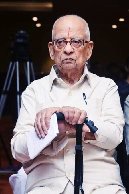 #AYODHYA_VERDICT Ram Mandir Nirmaan is a reality then this man Should be given the main Credit.. * Advocate K Parsaran is 92 years Old * Leading Counsel appearing for Ram Lalla Virajman * He almost made the dream of 80 Cr Hindus a reality #AyodhyaVerdict #MandirWahinBanayenge