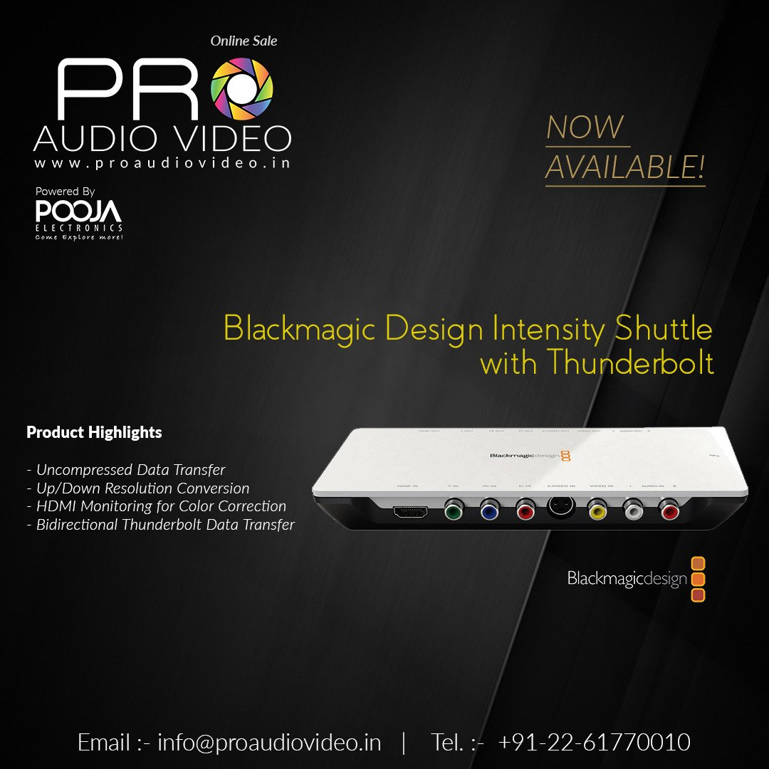 Pro Audio Video On Twitter Blackmagic Design Intensity Shuttle Thunderbolt Now Available In Stock For More Details Visit Our Site Https T Co Lpicftwag2 Camzone Camzoners Blackmagic Blackmagicdesign Blackmagicdesignintensityshuttle