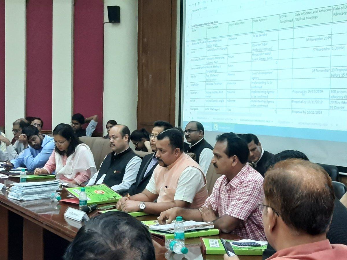 #PMVDY (Pradhan Mantri Van Dhan Yojana) completes 100 days. 2 lakhs #Tribals on road to Van Dhan #Enterprise. 662 Van Dhan Kendras sanctioned. National Level #Workshop of 27 states celebrates success.#GoTribal