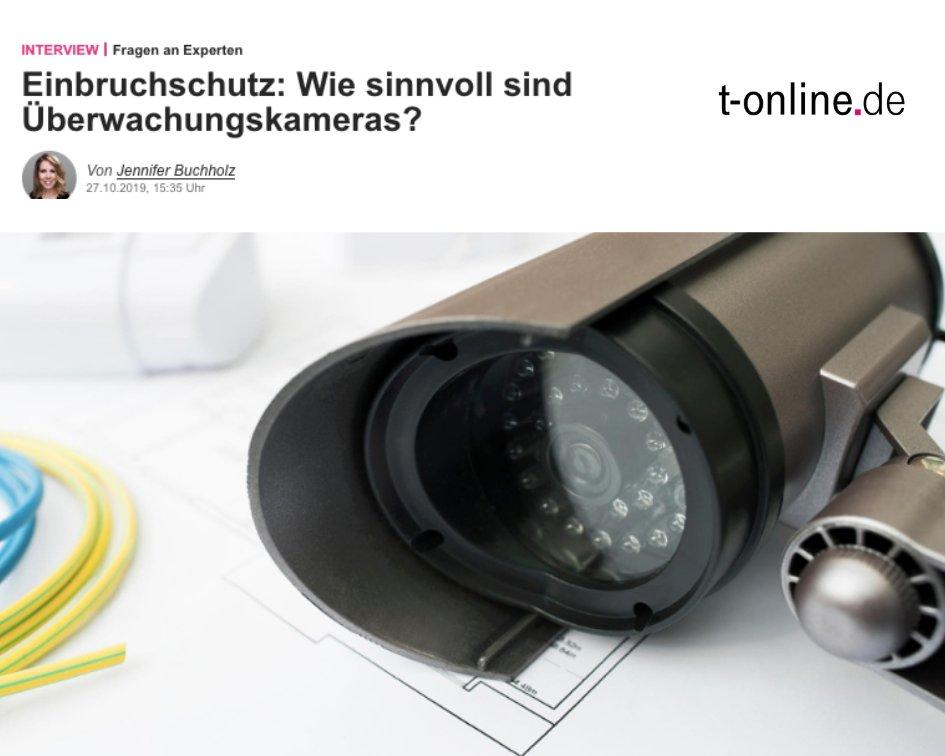 Helfen Überwachungskameras dabei, Einbrecher abzuschrecken? @tonline_news hat exklusiv zwei Experten befragt: Jens Fritsch von der Beratungsstelle Einbruchschutz der Polizei Berlin und Katharina Wild, Mitglied der Geschäftsführung bei Smartfrog: https://t.co/7g652vl7d9 https://t.co/8RkORqCGwC