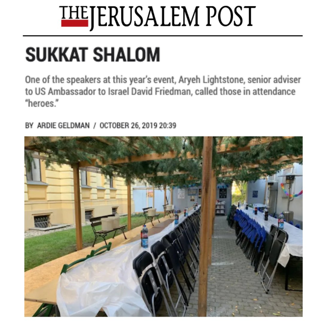 Efrat resident Ardie Gelman, founder of iTalk Israel, featured Mayor @odedrevivi's interfaith #Sukkah in the @Jerusalem_Post  http://jpost.com/Opinion/Sukkat-shalom-605885…  Visit our new media page to read more about our thriving community in #GushEtzion, #Judea at http://kerenefrat.org/media  #WeAreEfratpic.twitter.com/iMzZqHroWn