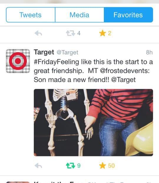 When TARGET tweets your Halloween pic #targetmoms #targetrunpic.twitter.com/zC53JeOHiJ