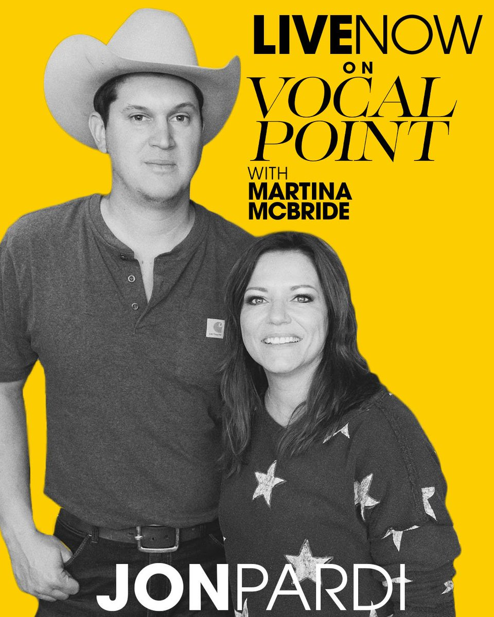 This next episode of #VocalPoint is a real Pardi. 😂In all seriousness... thank you so much for joining me, @JonPardi. Check out this weeks episode of #VocalPoint now! luminary.link/martina