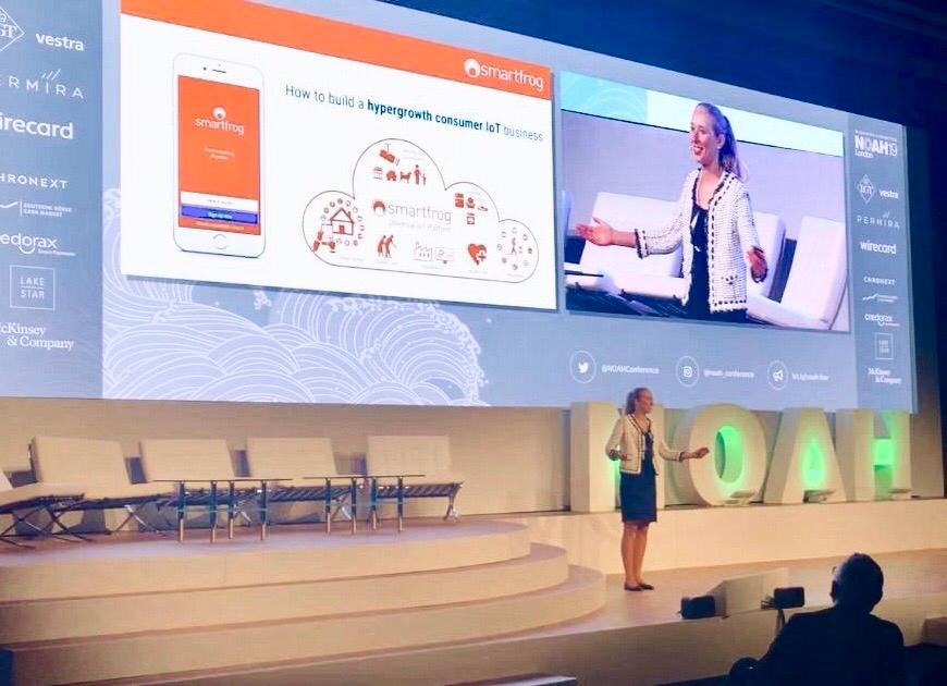 """Smartfrog Group CMO Katharina Wild at the  @NOAHConference:""""In 20 years almost everything in the household will be smart. Consumers are looking for useful, easy, affordable and safe solutions. Our user-centric SaaS model has helped us to achieve hypergrowth"""" https://t.co/seA1jbjnph"""