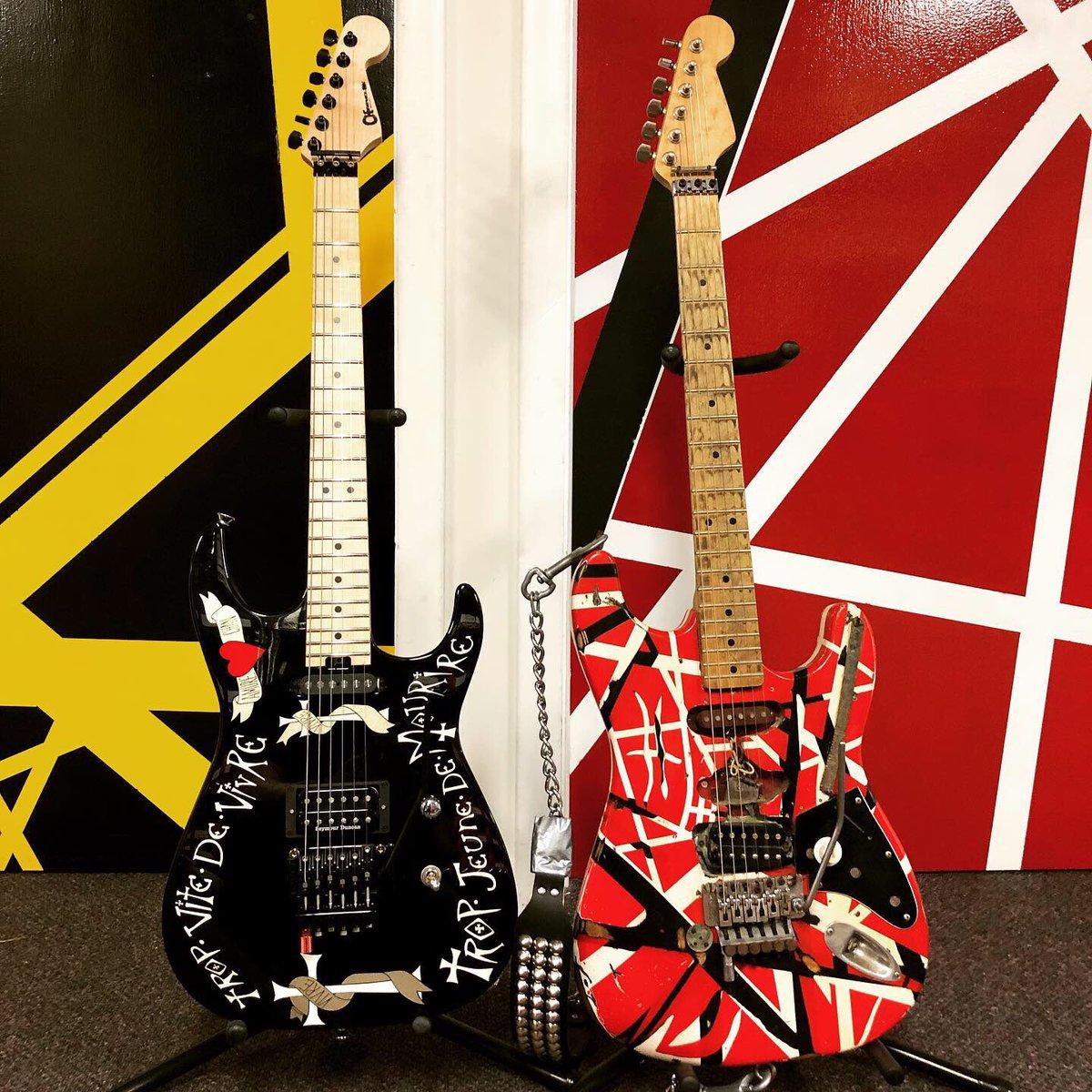 Loaded Guitars - A fitting pair of iconic cats! #futone #evh #WarrenDeMartini  #guitar #guitars #icon #vanhalen #ratt