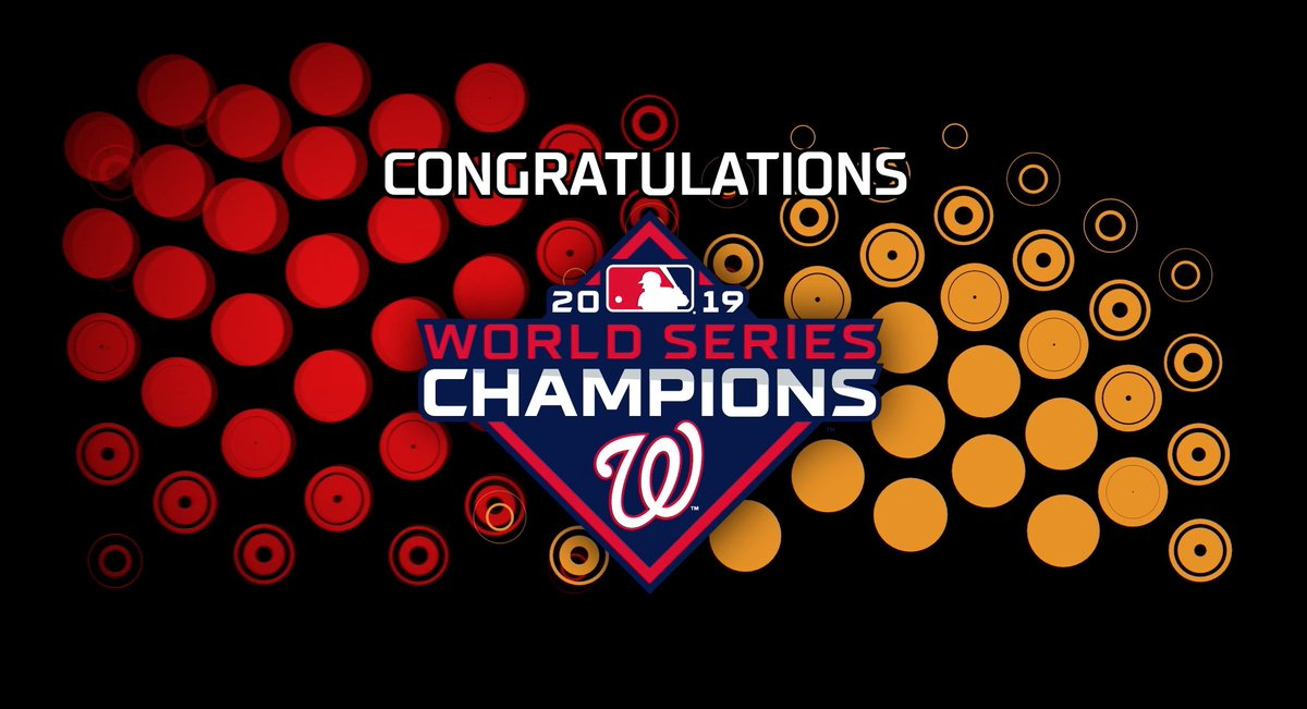 There hasn't been a @MLB #WorldSeries champion in DC since 1924… until now. Congrats to the @Nationals! 🏆 #Priceless
