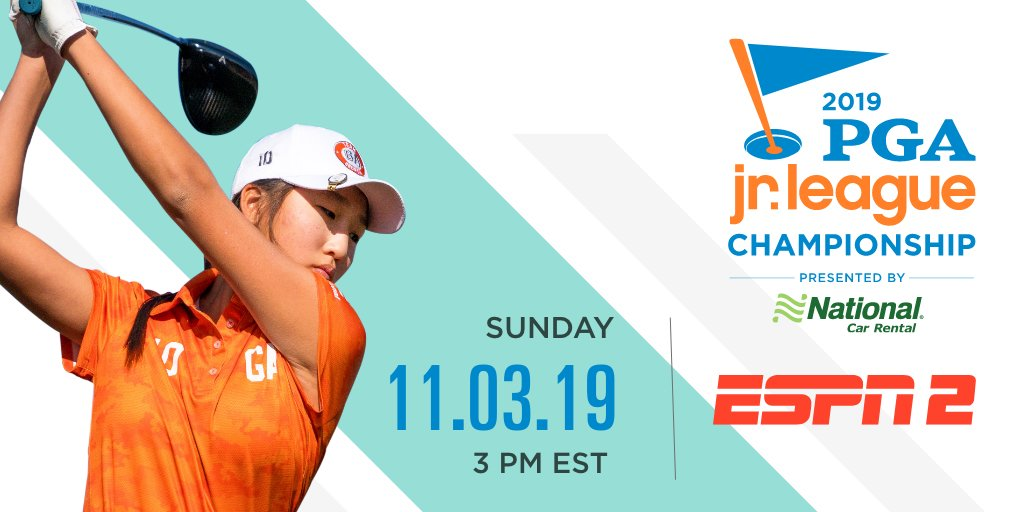 Dont miss the thrilling end to the 2019 PGA Jr. League season as 12 teams compete to be crowned the Champion! ▶︎Sunday, November 3rd at 3pm EST on @ESPN 2◀︎