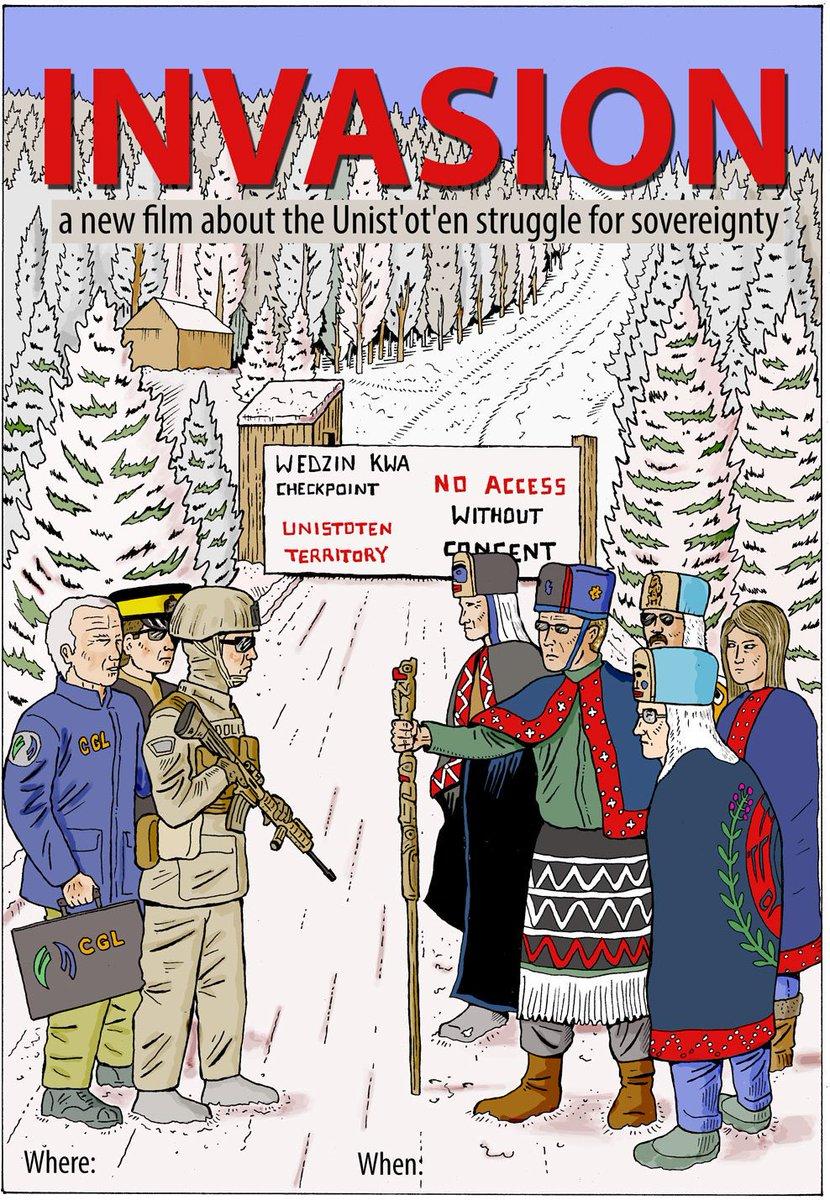 """Image result for Film """"Invasion"""" Canada Unist'ot'en"""