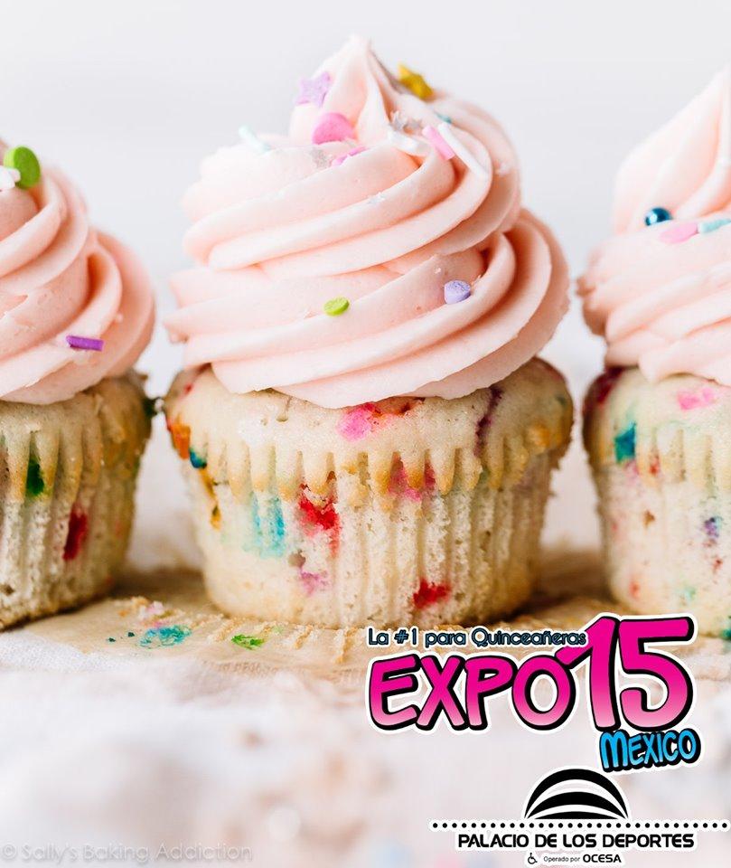 Dar cupcakes en tu fiesta es una opción super deliciosa. Expo 15 Palacio de los Deportes 15 y 16 de Febrero.  #Expo15 #QuinceAños #Mis15 #Fiestade15 #FiestaTematica